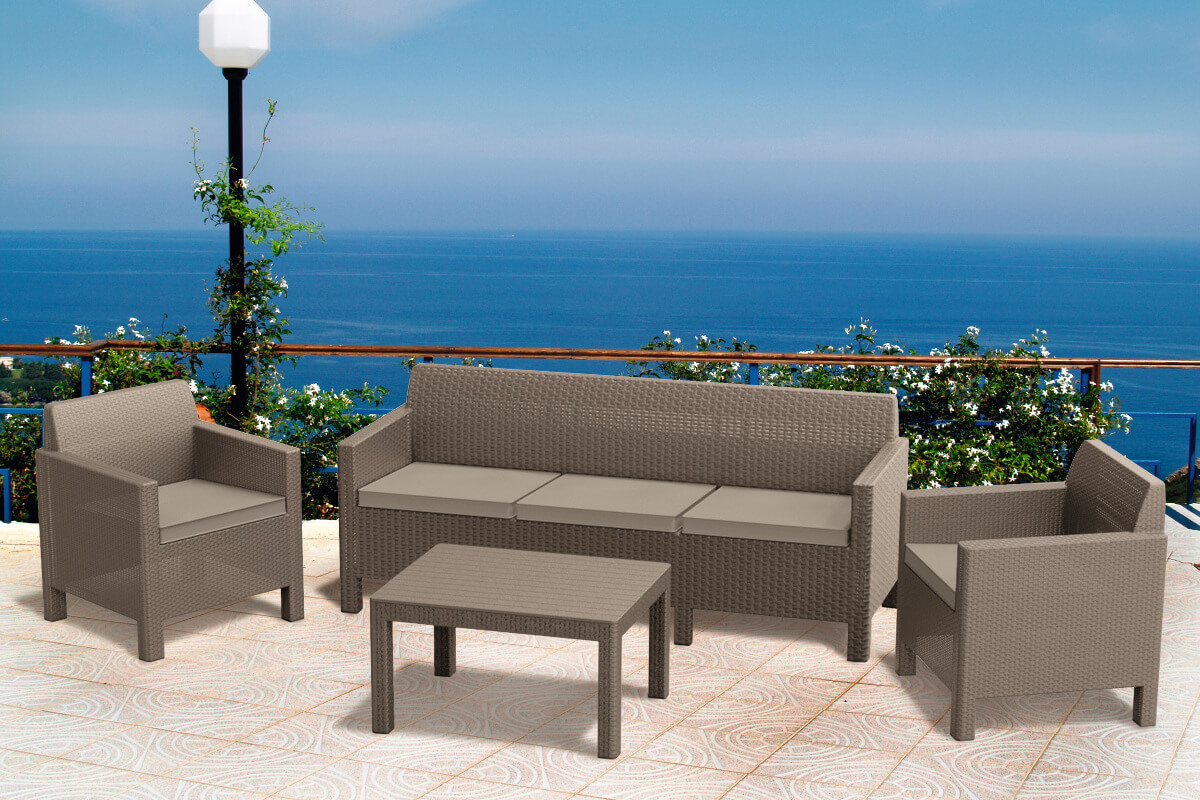 Комплект мебели Keter Orlando set with 3 seat sofa